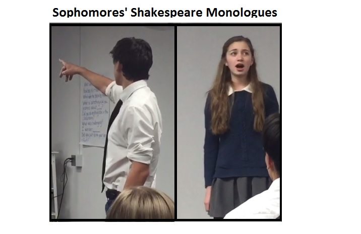SPVR – Sophomores' Shakespeare Monologues, 2017