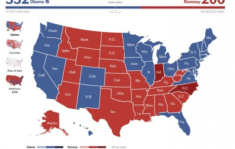 Election 2012 Sees President Obama Re-Elected