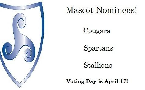 Mascot Candidates Set: Cougar, Spartan, Stallion; All-School Vote Set for April 17!