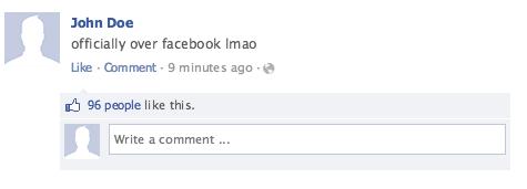 Facebook Users Decline