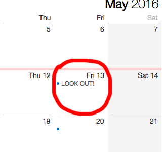 Friday the 13th: May's Bad Luck Day Comes