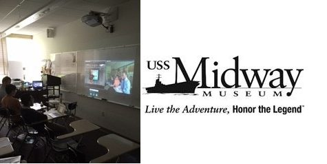 USS Midway Videoconference Brings Student Aboard