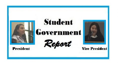 Student Government Report – December, 2016